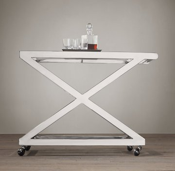 restoration hardware bar cart milo