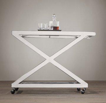 restoration hardware bar cart milo